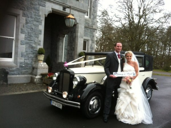 Vintage wedding Car hire - Bride and Groom with a Regent