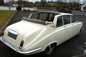 Classic Wedding Car Hire - A Daimler Landaulette with a hood down